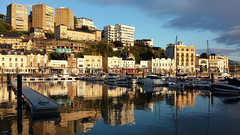 Torquay Harbour with its new pontoons Marina style (rosiespoonerphotos) Tags: marina phonepic harbour cellphone mooring torquay rosies westcountry torquayharbour rosiephotos rosiespooner samsunggalaxys4 rosiespoonerphotography