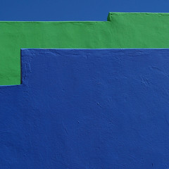 splitting the blues (gil walker) Tags: abstract detail architecture colours blues capetown minimal bokaap explored