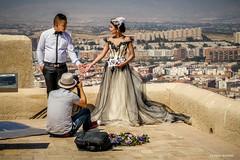 Love (Silver Machine) Tags: flowers wedding groom bride spain photographer photoshoot candid streetphotography alicante weddingdress weddingpictures castillodesantabarbara