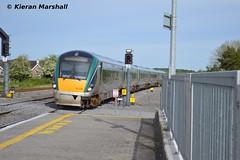 22034 passes Portarlington, 16/5/14 (hurricanemk1c) Tags: irish train rail railway trains railways irishrail rok rotem 2014 portarlington icr iarnrd 22000 22034 ireann iarnrdireann premierclass 5pce 1630heustongalway