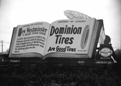 Taken for Duker and Shaw Billboards Ltd. [History of Canada ad for Dominion Tires]1926 stuart thomson (vancouverbyte) Tags: vancouver vancouverbc vancouvercity vintagevancouver