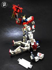 BG-011B Build Burning Gundam 3 (Commander626) Tags: robot lego hard suit burning fighters try build combat gundam mech