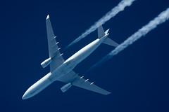 Air Canada Airbus A330-343 C-GHKX (Thames Air) Tags: air canada airbus a330343 cghkx contrails telescope dobsonian overhead vapour trail