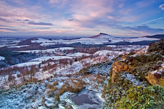A winters sunset over Roseberry Topping. (paul downing) Tags: winter sunset snow nikon filters hitech greatayton roseberrytopping 0609 gnd gribdalegate pd1001 d7000 pauldowning pauldowningphotography