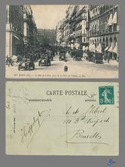 PARIS (IIe) - La Rue de la Paix prise de la Place de l'Opera - LL (bDom) Tags: paris 1900 oldpostcard cartepostale bdom