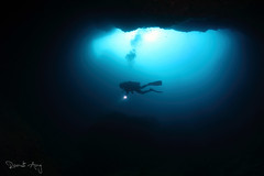 BLUE HOLE (Randi Ang) Tags: canon indonesia eos underwater angle south wide dive scuba diving fisheye cave ang lombok 15mm bluehole randi 6d belongas