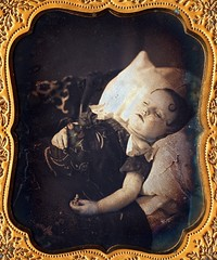 Deceased Boy Holding Toy and Flower, 1/6th-Plate Daguerreotype, Circa 1855 (lisby1) Tags: boy usa flower toy death child mourning 19thcentury victorian american daguerreotype 1850s earlyphotography postmortem nineteenthcentury spitcurl annlongmoreetheridgecollection