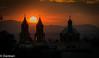 sunset church (Dank1an) Tags: sunset sky sun church silhouette highkey