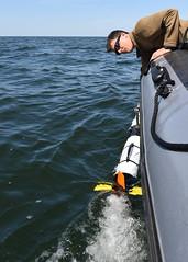 160523-N-JY474-442 (CNE CNA C6F) Tags: sailors eod usn lithuania nato ordnance multinational klaipedia partnershipforpeace eodmu8 uuv unmannedunderwatervehicle openspirit2016