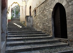 Stairway and Stone - Bellano - Lake Como Italy (Gilli8888) Tags: street door italy lake stone stairs buildings arch steps arches doorway lakecomo lombardia lombardy stairways bellano