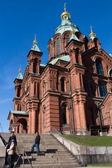 tourists (KevPBur) Tags: suomi finland spring helsinki bluesky russian greenroof uspenskicathedral orthodoxcathedral brickchurch golddomes canon650d canonefs18135mmf3556isstm canonrebelt4i canonkissx6i canon650dcanonkissx6icanonrebelt4i
