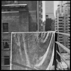 The towel (Patrick Copley) Tags: nyc newyork film mediumformat towel 120film hasselblad500cm planar80 bwfp