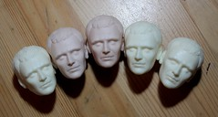 More Clones (pseudanonymous) Tags: actionfigure head handmade ooak wip doctorwho 16 resin custom commission casting themaster polyurethane headsculpt johnsimm polyurethaneresin