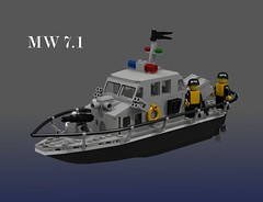 MW 7.1 Patrol Boat (Thomas of Tortuga) Tags: boat lego render police ldd dcvi ingsoc