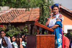 Making a speech, Patzcuaro, Michoacan, Mexico (Timothy Neesam (GumshoePhotos)) Tags: travel mexico fuji ceremony michoacn speech patzcuaro indigenous patz fujfilm xt1