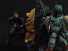 Venom Snake vs Boba Fett (Matheus RFM) Tags: starwars bobafett metalgear kaiyodo crossover bigboss revoltech venomsnake vulcanlog