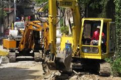 road repair in philippines (interestingness) (DOLCEVITALUX) Tags: road outdoor philippines pipes heavyequipment machines bulldozers roadrepair
