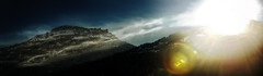Enter Sandman (Elliott Bignell) Tags: sunset sun mountain mountains alps berg schweiz switzerland sonnenuntergang suisse sundown ostschweiz berge alpine flare sunburst alpen svizzera sonne alp contrejour sunbeams flums flumserberg walenstadt berschis goldenlandscapesubmit