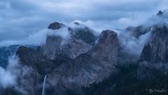 Cathedral rock east (YaochingLiu) Tags: clouds ngc waterfalls yosemite beautifulearth