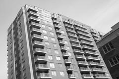 bebloor condos (hogtown_blues) Tags: blackandwhite toronto ontario canada architecture blackwhite condos condominiums bloorstreetwest bloorlansdowne junctiontriangle