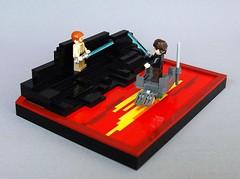 Duel on mustafar (1) (adde51) Tags: star lava starwars lego duel obi anakin wars wan vignette legostarwars skywalker kenobi moc mustafar vig foitsop adde51