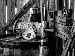 "ship's ""log"" & ""knots"" 28 (-gregg-) Tags: wood bw log ship dove maryland rope knots"