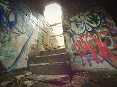The Portal, 2016.06.17 (Aaron Glenn Campbell) Tags: sunlight graffiti pennsylvania decay ruin faded urbanexploration shade nepa urbex actioncam luzernecounty wyomingvalley concretecity hanovertownship instagramapp uploaded:by=instagram snapseed wifitransfer iphone6plus xiaomiyi yiactionapp