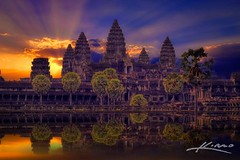 Sunrise at the Angkor Wat Temple in Siem Reap, Cambodia | Photo by Captain Kimo (manbeachrm) Tags: morning pink sunset red sky orange sun nature beautiful silhouette night clouds sunrise warm pretty view gorgeous horizon cloudporn photooftheday skyporn allsunsets instagood instasky tagsforlikes tflers tagsforlikesapp piclogy