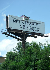 """Way 2 talentd 2 b burgerz"" (peachy92) Tags: usa ga georgia cow us unitedstates cows unitedstatesofamerica billboard billboards cobb marietta chickfila cobbcounty 2016 mariettageorgia mariettaga cobbcountygeorgia cobbcountyga chickfilabillboard chickfilabillboards fujifilmfinepixxp200"