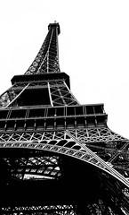 La Dame de fer | Paris, France (Sophie Choate) Tags: travel summer bw paris france tower europe eiffeltower eiffel adventure toureiffel simple minimalist