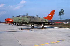 55-3727-1-Tyndall-OCT1988 (Alpha Mike Aviation Photography) Tags: f100 super sabre afb tyndall northamerican supersabre 53727 553727