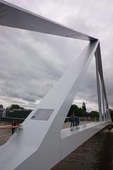 La Belle Ligeoise (Lige 2016) (LiveFromLiege) Tags: bridge river belgique pont liege luik meuse lige wallonie passerelle lieja lttich liegi pitonnier labelleligeoise labelleliegeoise