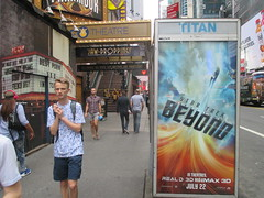 Star Trek Beyond Poster Billboard Phone Booth AD 2016 NYC 1899 (Brechtbug) Tags: show street new york city nyc fiction film television st trek booth movie poster star tv jj theater phone mr theatre near manhattan district space rip ad broadway science billboard midtown sidewalk ave captain spock scifi series beyond anton 1960s avenue abrams 7th futuristic kirk 42nd 2016 standee standees yelchin 06282016