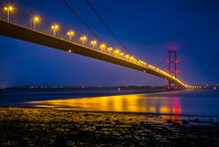 The Humber Bridge (www.chrisbirds.com) Tags: nightphotography travel bridge photography fuji yorkshire follow explore hull humberbridge foreshore 2016 chrisbird wwwchrisbirdscom
