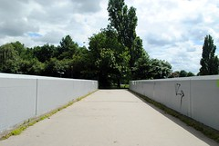Over the bridge (zawtowers) Tags: park 2 london sunshine walking warm footbridge walk exploring south capital sunday july sunny ring dual stroll section a2 3rd amble eltham 2016 carriageway falconwoodtogrovepark