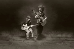 The old guitar (Akkarapat) Tags: bw music motion emotion guitar dream dramatic dreaming fantasy dreamatic
