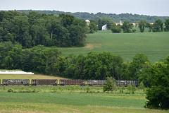 Hopper Pastoral (DJ Witty) Tags: rural nikon farm maryland rr farmland pastoral hoppers hoppercars railroading freightcars d610 marylandmidland clinchfield