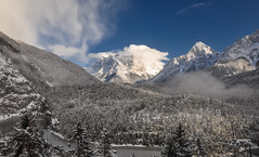 Zugspitzblick (ccr_358) Tags: trees winter panorama mountain lake snow alps cold landscape austria tirol sterreich scenery day view postcard january inverno alpi tyrol cartolina gennaio tirolo zugspitze mountainscape fernpass 2016 blindsee zugspitzblick ccr358 passodifern