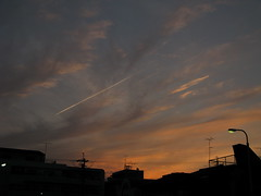 But some of us are looking at the stars (hitsujida) Tags: cannon g9 town sunset cloud sky nature