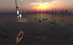 NYC Shields Race - Nice fleet showing (vivipezz) Tags: nyc sailing sl secondlife shields