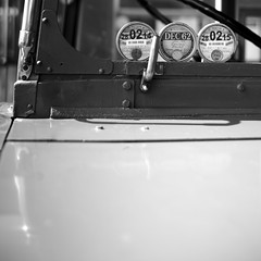 BW bus 13 (Andrew Malbon) Tags: show leica bw bus blackwhite rangefinder solent tax summilux 1962 polished daimler southsea m9 taxing vintagebus southseacommon 35mmf14 leicam9 taxdisks