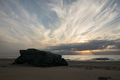 Sunset (Niquitin) Tags: sunset beach strand zonsondergang nederland cirrus stratocumulus niquitin dickbruinsma