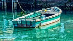 Lagoon Boat (stephencurtin) Tags: venice seaweed green boat lagoon ropes