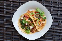Crispy Fish Tacos for Summer. (LisaDiazPhotos) Tags: fish cheese tomato milk tacos almond crispy lettuce salsa cilantro jalepenos sriracha swai lisadiazphotos