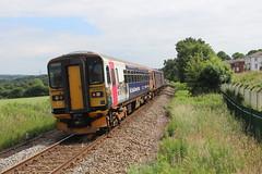 153333 (matty10120) Tags: dog train box railway class devon 153 sprinter newcourt