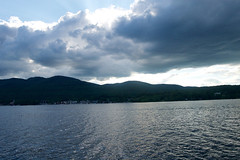 Sky Drama (avflinsch) Tags: cloud lake ny storm mountains water george 500px ifttt