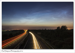 Noctilucent Clouds over Lincolnshire (Paul Simpson Photography) Tags: road longexposure summer sky field june night clouds dark motorway lincolnshire nightsky nlc scunthorpe traffice noctilucentclouds nlcs photosof imageof photoof m181 imagesof noctillucentclouds sonya77 paulsimpsonphotography june2016
