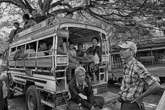 si parte (mat56.) Tags: travel people white black bus monochrome monocromo asia candid burma persone myanmar antonio departure bianco nero viaggio amarapura partenza pulman birmania mat56 romei
