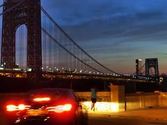 Hudson Heights, NY (lotos_leo) Tags: street bridge newyork architecture night outdoor dusk manhattan hudsonriver georgewashingtonbridge hudsonheights 20thjune chittendenavenue