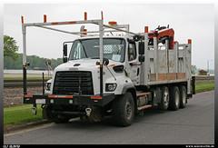 "Freightliner 114 SD ""BNSF"" (uslovig) Tags: santa railroad usa burlington truck construction railway sd lorry camion and fe northern bau bnsf 114 lastwagen lkw freightliner lastkraftwagen 27500"